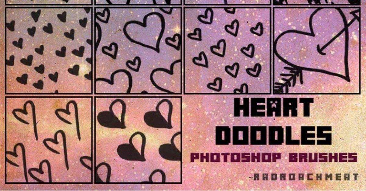 【爱心笔刷】14种PHOTOSHOP 爱心笔刷下载,心型笔刷推荐