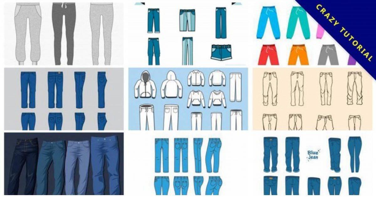 【裤子版型】16套Illustrator 裤子版型下载,长裤版型推荐
