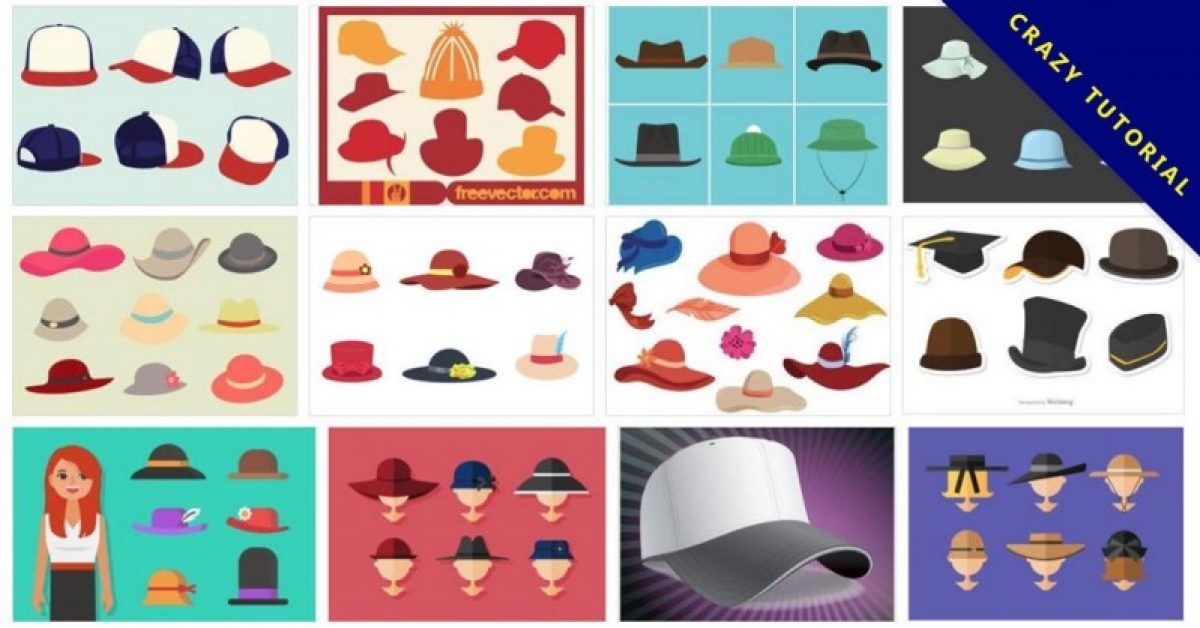 【帽子版型】143套 Illustrator 帽子版型下载,棒球帽版型设计