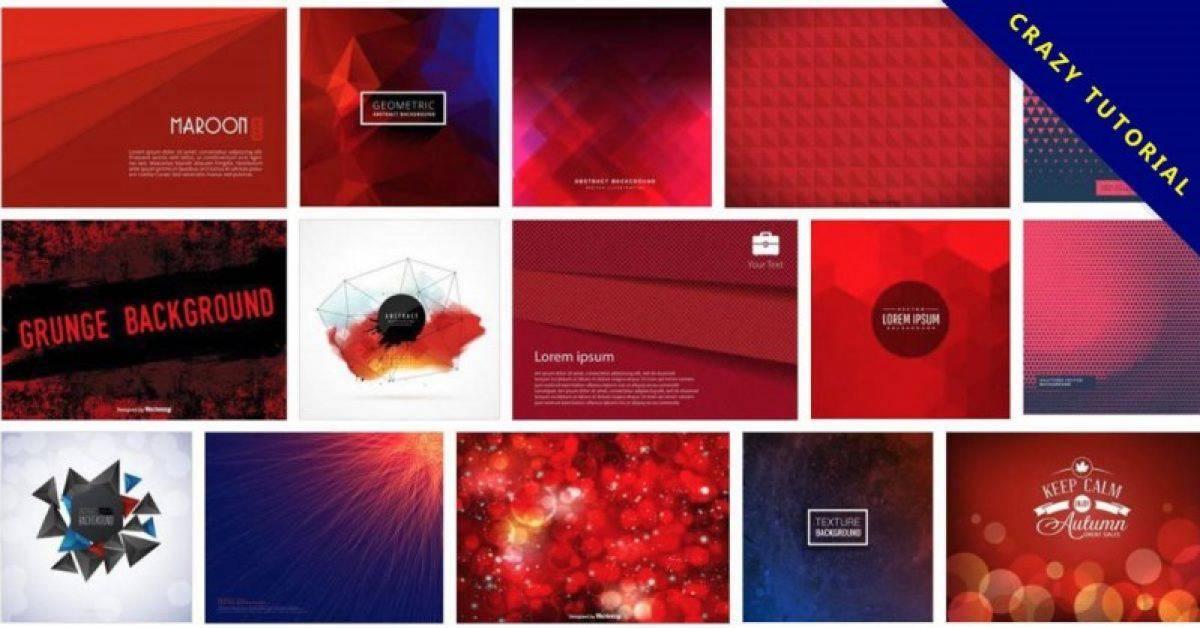 【红色桌布】105套Illustrator 红色背景图素材下载