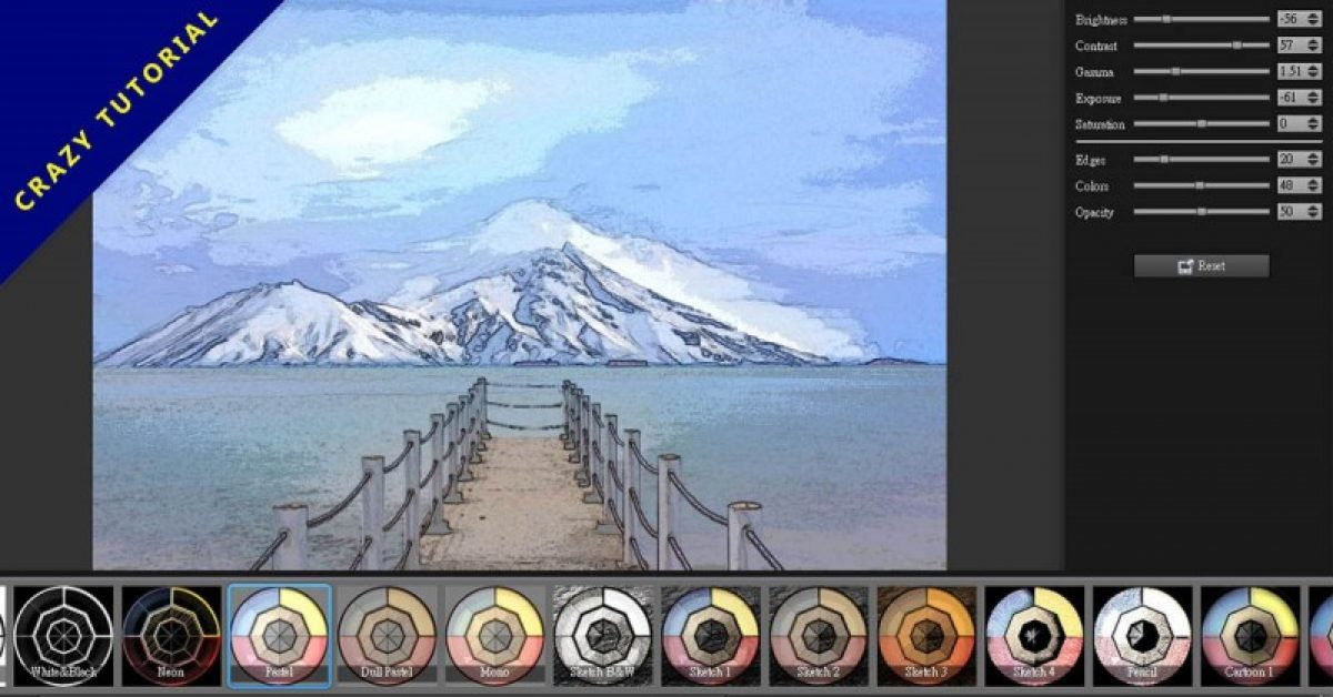 【照片卡通化】XnSketch 照片卡通化软体下载,照片快速变成图画。