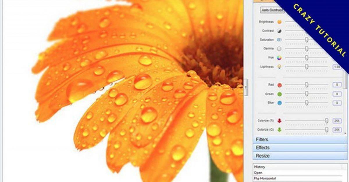 【相片后制】PC Image Editor 相片后制软体,自动调整色阶、对比和亮度。