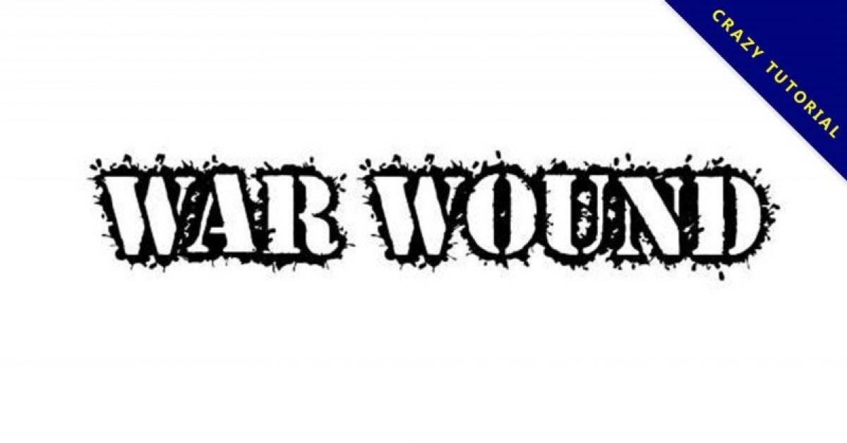 【战争字体】美式伤口战争字体下载,战争创伤字型