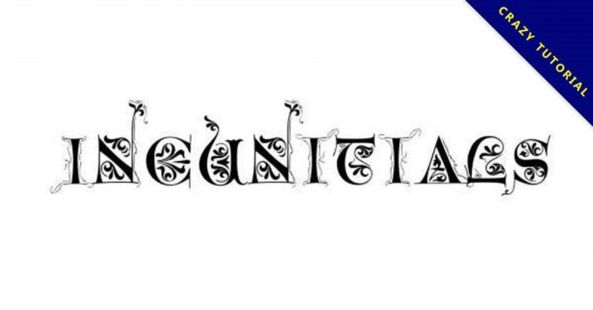 【花边字体】Incunitials 英文花边字体下载,花边字推荐款