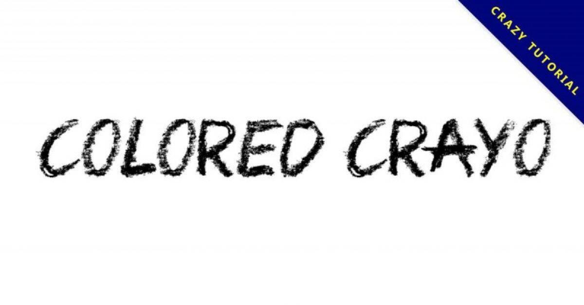 【英文蜡笔字】Colored Crayons 英文蜡笔字型下载