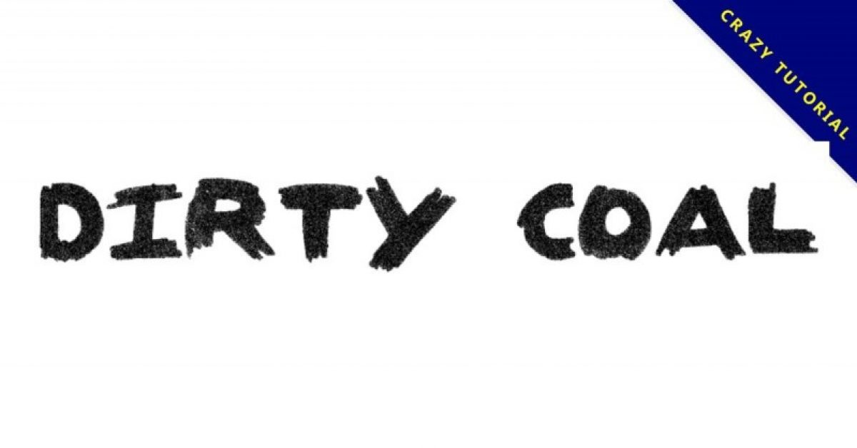 【炭笔字型】Dirty Coal 英文炭笔字型下载,作品落款专用