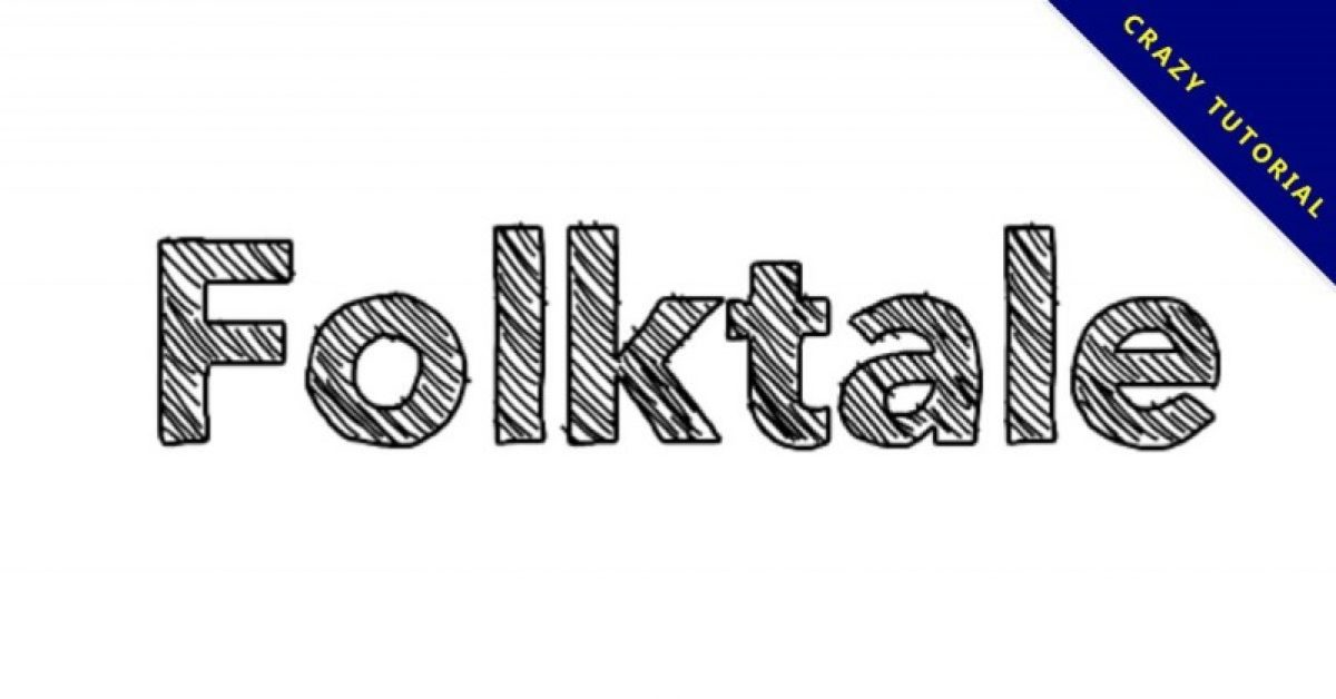 【涂鸦字型】Folktale 可爱涂鸦字体下载,手绘质感字体