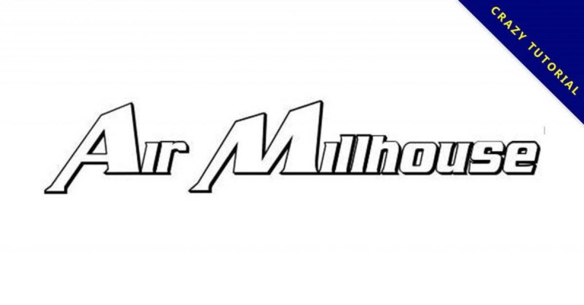 【空气字体】Air Millhouse 英文空气感字体下载,空气风格推荐
