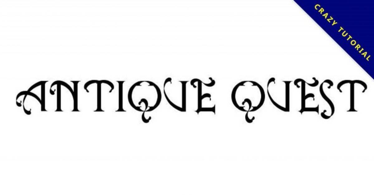 【任务字体】 Antique Quest 任务风格字体下载,信物字体