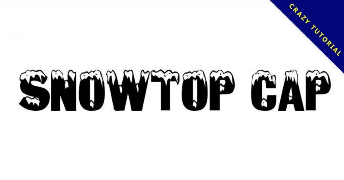 【积雪字体】Snowtop Caps 圣诞节积雪字体下载