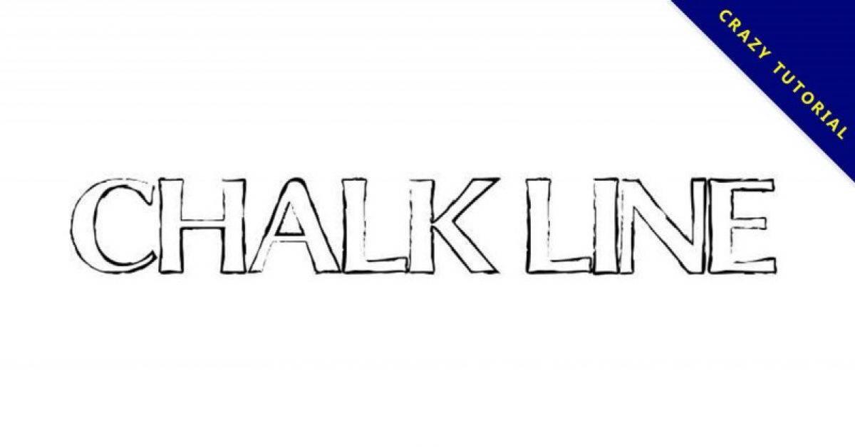 【轮廓字体】Chalk Line 粉笔轮廓字体下载,粉笔线字框