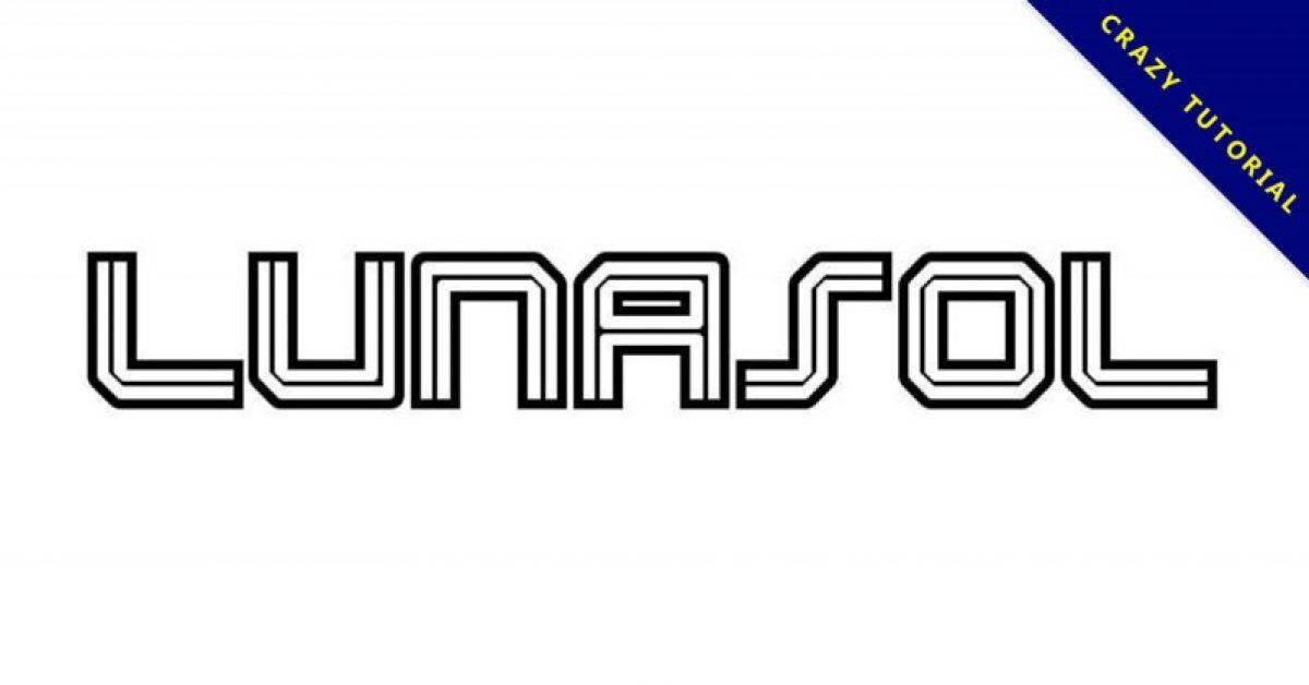 【线条字体】Lunasol Aurora 质感英文线条字体下载