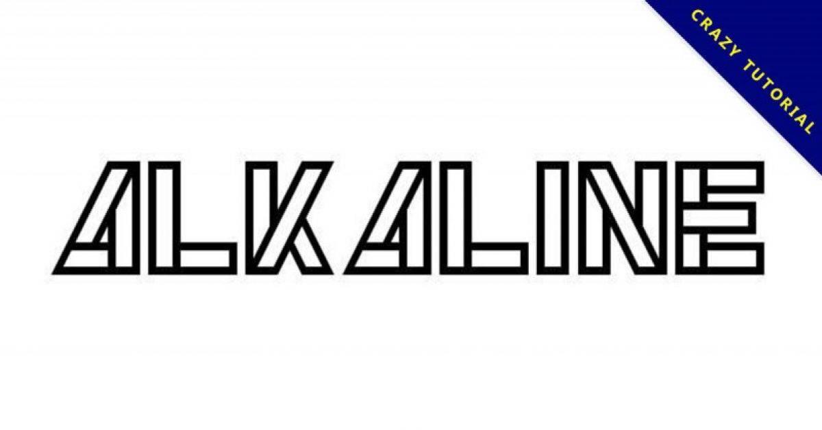 【剪贴字体】Alkaline 英文剪贴字体下载