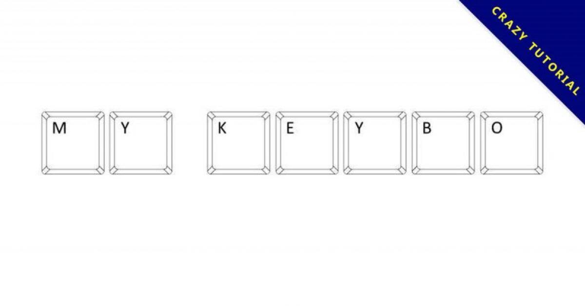 【键盘字体】My Keyboard 教学用键盘字体下载