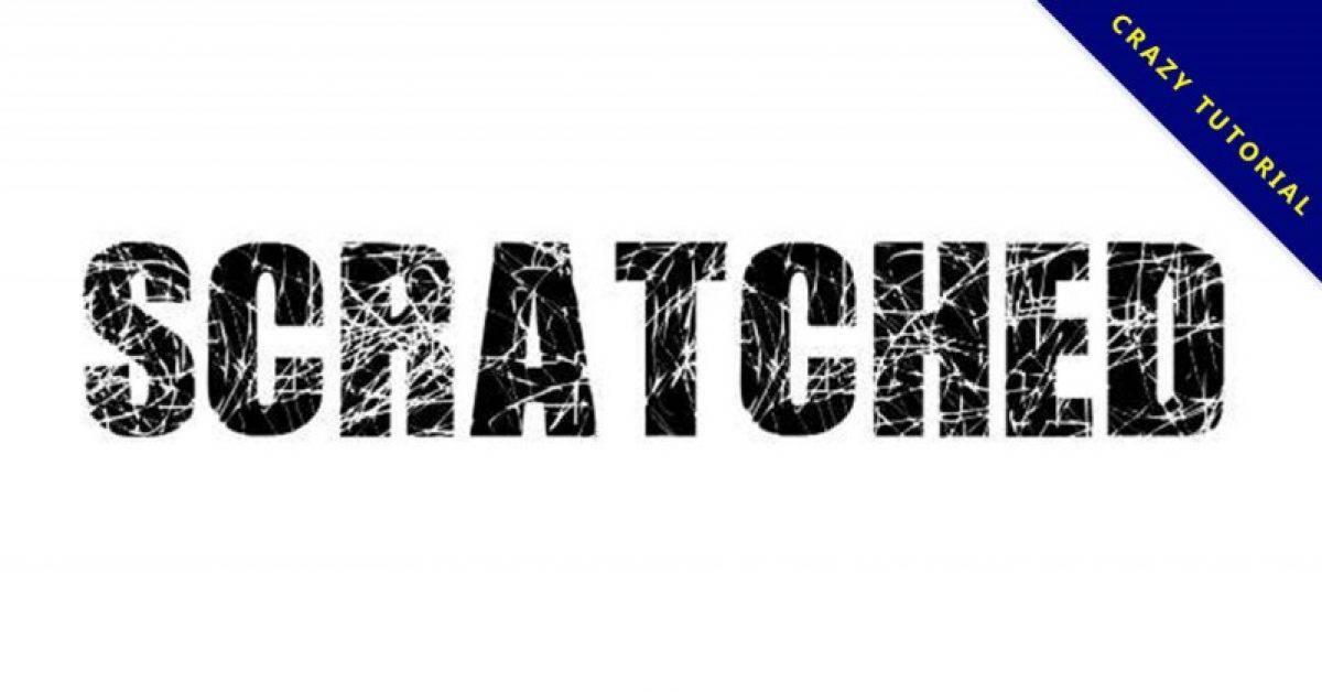 【刮痕字体】Scratched Letters 英文刮痕字体下载