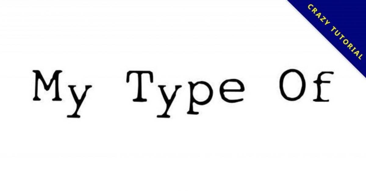 【打字机字体】My Type 英文打字机字体下载