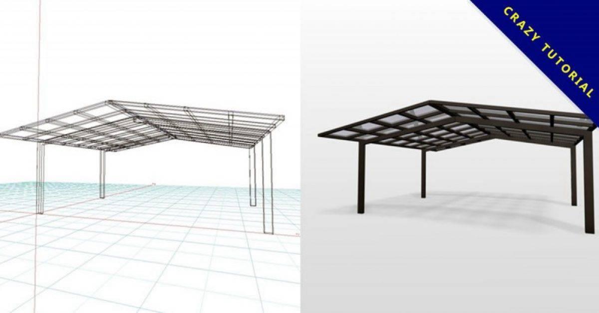 【车库雨遮】3DMAX精选10款车库雨遮下载,遮雨棚模型免费推荐款