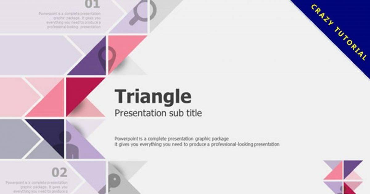 三角形科技风格PPT模板下载,商业报告首选