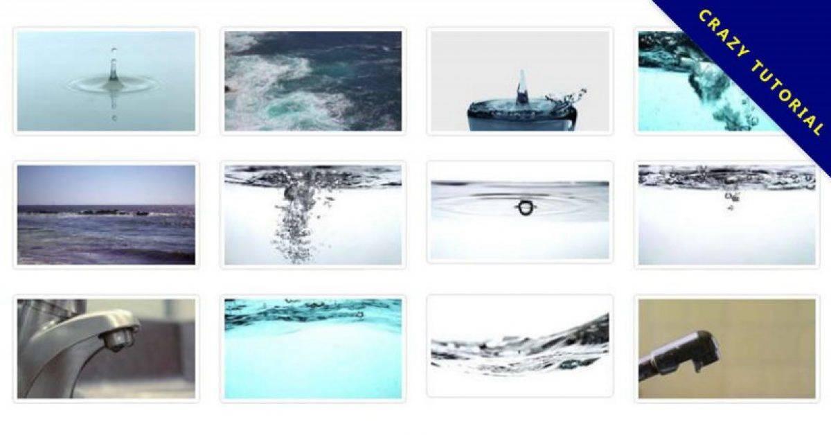 【动态水滴】细致的50款动态水滴影片下载,滴水影片素材的作业档