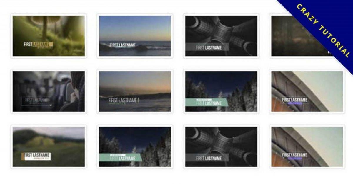 【影片标题素材】精美的45款影片标题素材下载,标题动画范本的素材格式