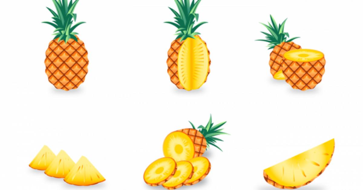 【凤梨图案】70套 Illustrator AI凤梨图案素材下载,凤梨图片推荐款