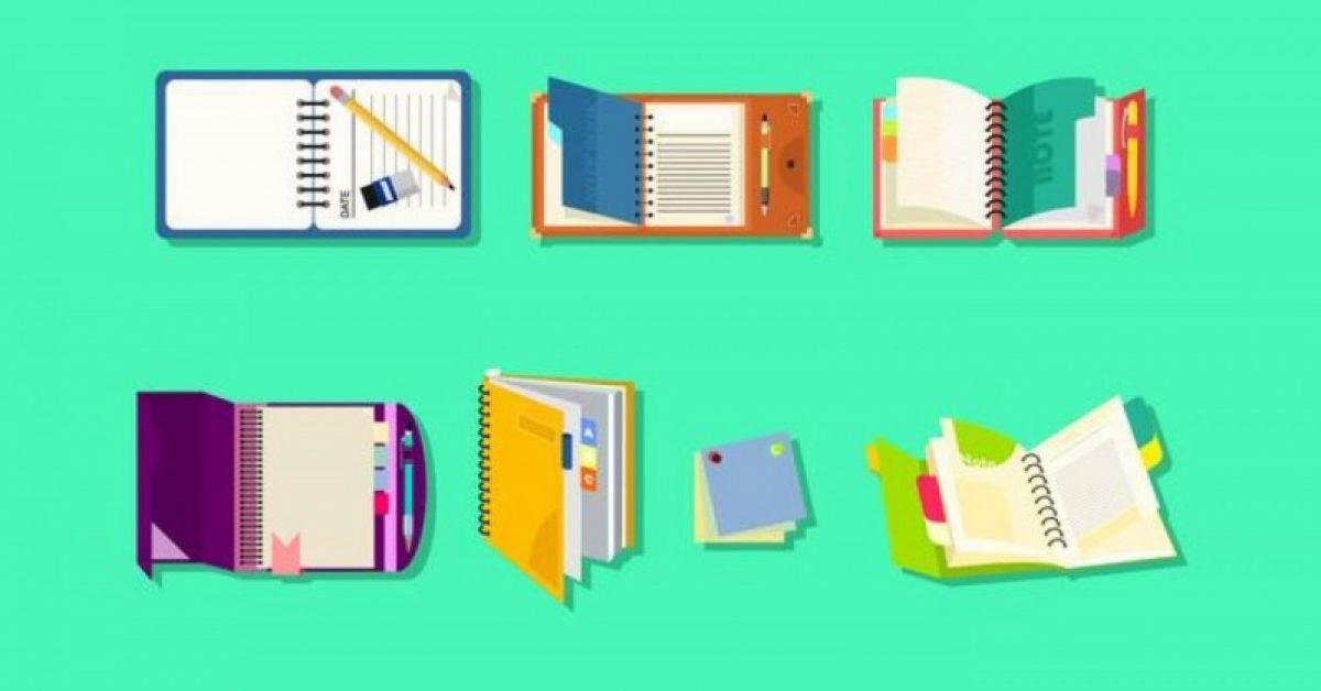 【笔记本素材】36套 Illustrator 笔记本图片下载,笔记本图案推荐款